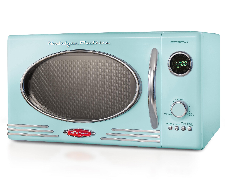 Nostalgia Electrics 15 09 Cuft Countertop Microwave Wayfair