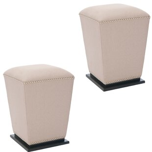 Galarza Leather Ottoman (Set of 2)