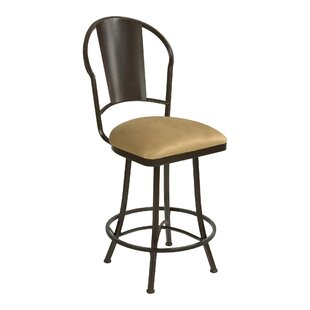 Knorr Swivel Bar Stool by Winston Porter
