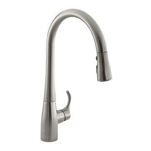 Kohler Simplice Pull-Down Bar Faucet with Sweep Spray and DockNetik®