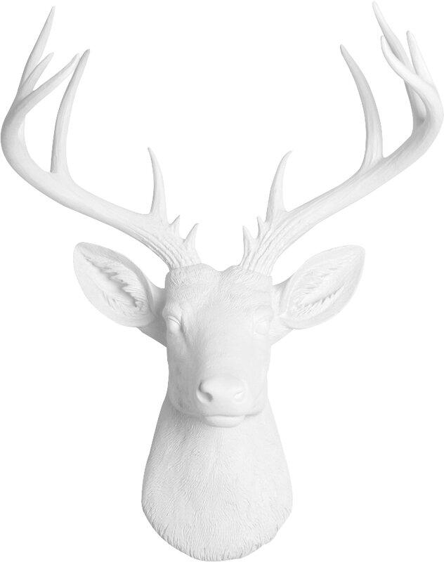 Deer Wall Decor gracie oaks faux deer head wall décor & reviews | wayfair