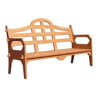 Loon Peak Burliegh Wooden Garden Bench