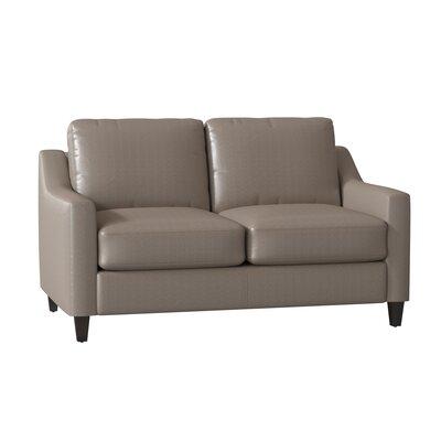 Awesome Wayfair Custom Upholstery Jesper Leather Loveseat Body Ibusinesslaw Wood Chair Design Ideas Ibusinesslaworg