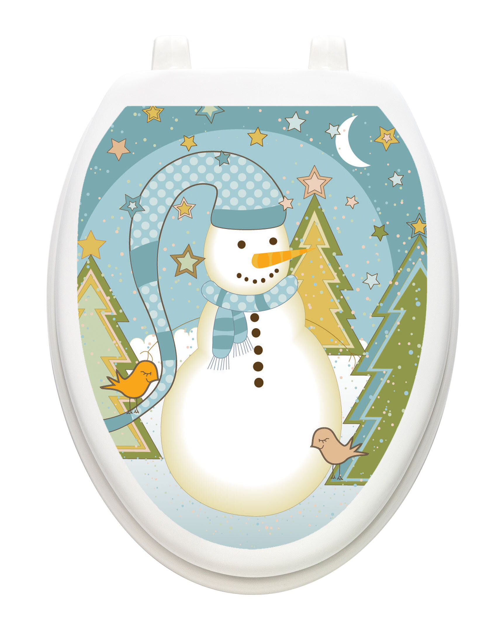 Awe Inspiring Holiday Folk Snowman Toilet Seat Decal Pabps2019 Chair Design Images Pabps2019Com