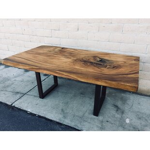 Brake Natural Solid Wood Dining Table by Foundry Select