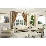 France 3 Piece Leather Living Room Set by House of Hampton