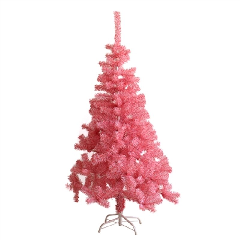 Pink Artificial Christmas Trees: The Holiday Aisle Indoor Light Pink Pine Artificial