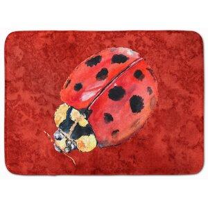 Mallory Lady Bug Memory Foam Bath Rug