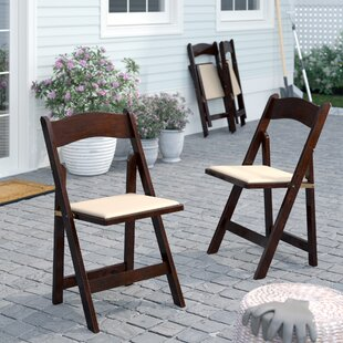 Chafin Folding Patio Dining Chair with Cushion (Set of 4)