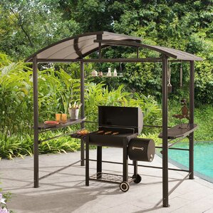 Delightful Denver 7.5 Ft. W X 5 Ft. D Metal Grill Gazebo