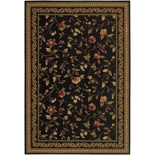 Albertine Black Area Rug By August Grove