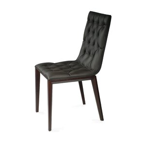 Cult Side Chair in Genuine Leather - Dark..