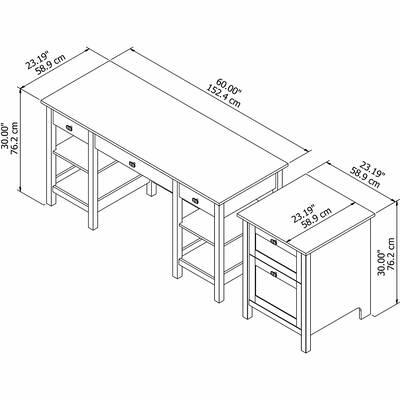 Brayden Studio Thaxted 2 Drawer Computer Desk Reviews