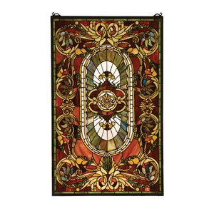 Victorian Regal Splendor Stained Glass Window
