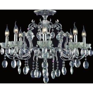 Astoria Grand Combs 8-Light Semi Flush Mount