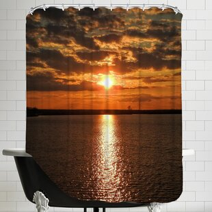 Sunset Sunrise Holiday Shower Curtain by East Urban Home #1
