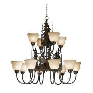 Loon Peak Ponton 12-Light Shaded Chandelier
