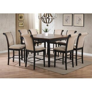 Vianden 9 Piece Counter Height Solid Wood Dining Set by Canora Grey