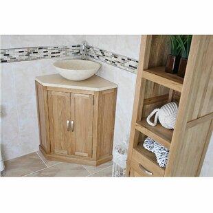 Decamp Solid Oak 550mm Free-Standing Vanity Unit By Belfry Bathroom
