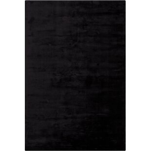 Deals Mabel Hand Woven Black Area Rug By Red Barrel Studio
