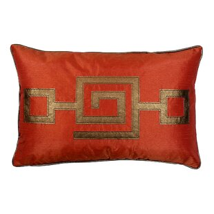Modern Greek Key Lumbar Pillow