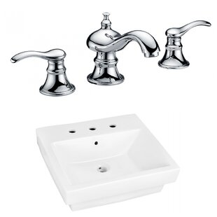 Inexpensive Above Counter Ceramic Rectangular Vessel Bathroom Sink with Faucet and Overflow ByRoyal Purple Bath Kitchen