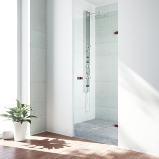 Check Prices Tempo 22.5 x 70.63 Hinged Adjustable Frameless Shower Door By VIGO