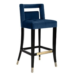 Denice Velvet 26 Bar Stool by Everly Quinn