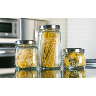 Glass Pop-Up 3 Piece Storage Jar Set