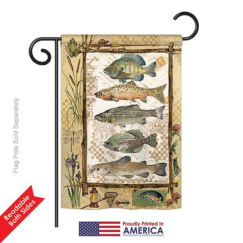 Breeze Decor Fishing Adventures 2 Sided Polyester 18 5 X 13 In Garden Flag Wayfair