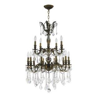 Astoria Grand Weisser 15-Light Candle Style Chandelier