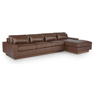 Corrine Leather Sectional By Foundry Select