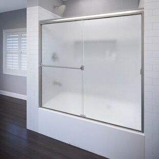 Best Price Classic 56 x 56 Semi-Frameless Bypass Sliding Tub Door By Basco