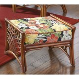 - 27 Rectangle Floral Standard Ottoman by Spice Islands Wicker