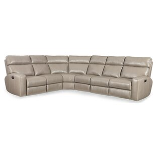 Shop Mowry Leather Reclining Sectional by Hooker Furniture