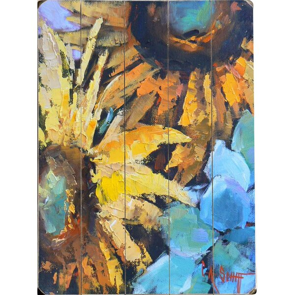 Red Barrel Studio Painted Sunflowers Wall Art U0026 Reviews | Wayfair