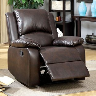 Read Reviews Yamanda Leather Manual Recliner by Red Barrel Studio Reviews (2019) & Buyer's Guide