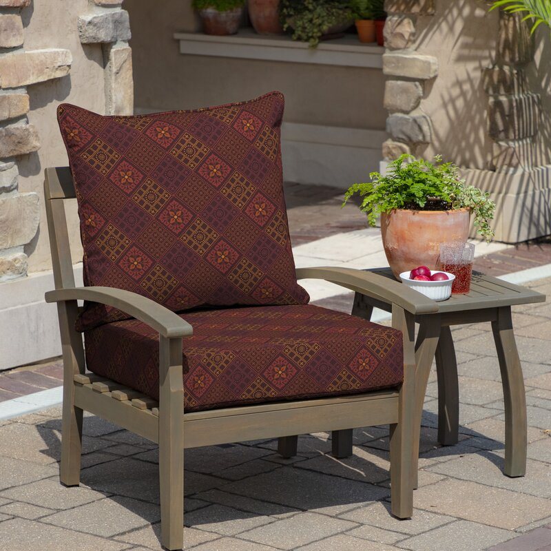 Fleur De Lis Living Azulejo Southwest Outdoor Seat Back Cushion Reviews Wayfair
