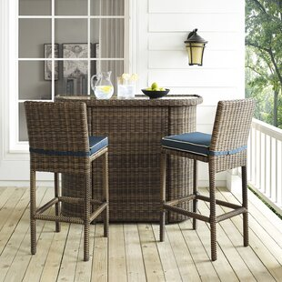 Dardel 3 Piece Bar Height Dining Set