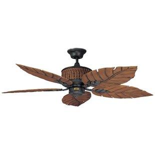 Harbor breeze ceiling fan wayfair 52 fernleaf breeze 5 blade ceiling fan aloadofball Image collections