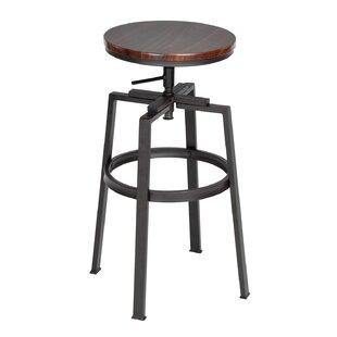 Escoto Height Adjustable Swivel Bar Stool (Set Of 2) By Williston Forge