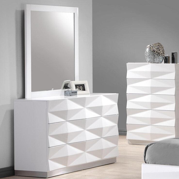 Phenomenal Baldree Rectangular Modern Contemporary Dresser Mirror Short Links Chair Design For Home Short Linksinfo
