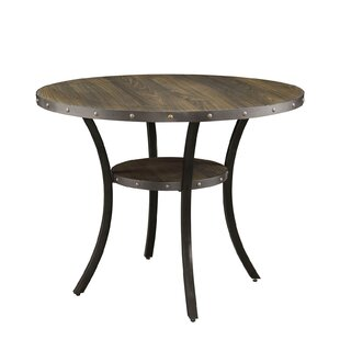Mable Solid Wood Dining Table with Lower Shelf by Williston Forge