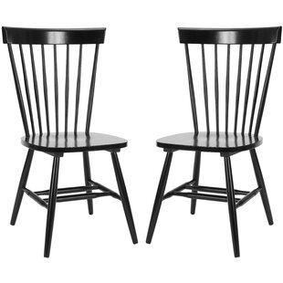 Lark Manor Saint-Pierre Solid Wood Dining Chair (Set of 2)
