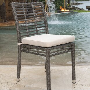 Stacking Patio Dining Chair with Cushion