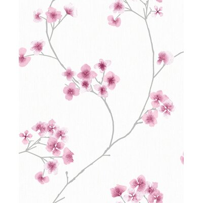 Ophelia & Co. Judith Gap 33' x 20 Radiance Wallpaper Roll Color: White/Pink