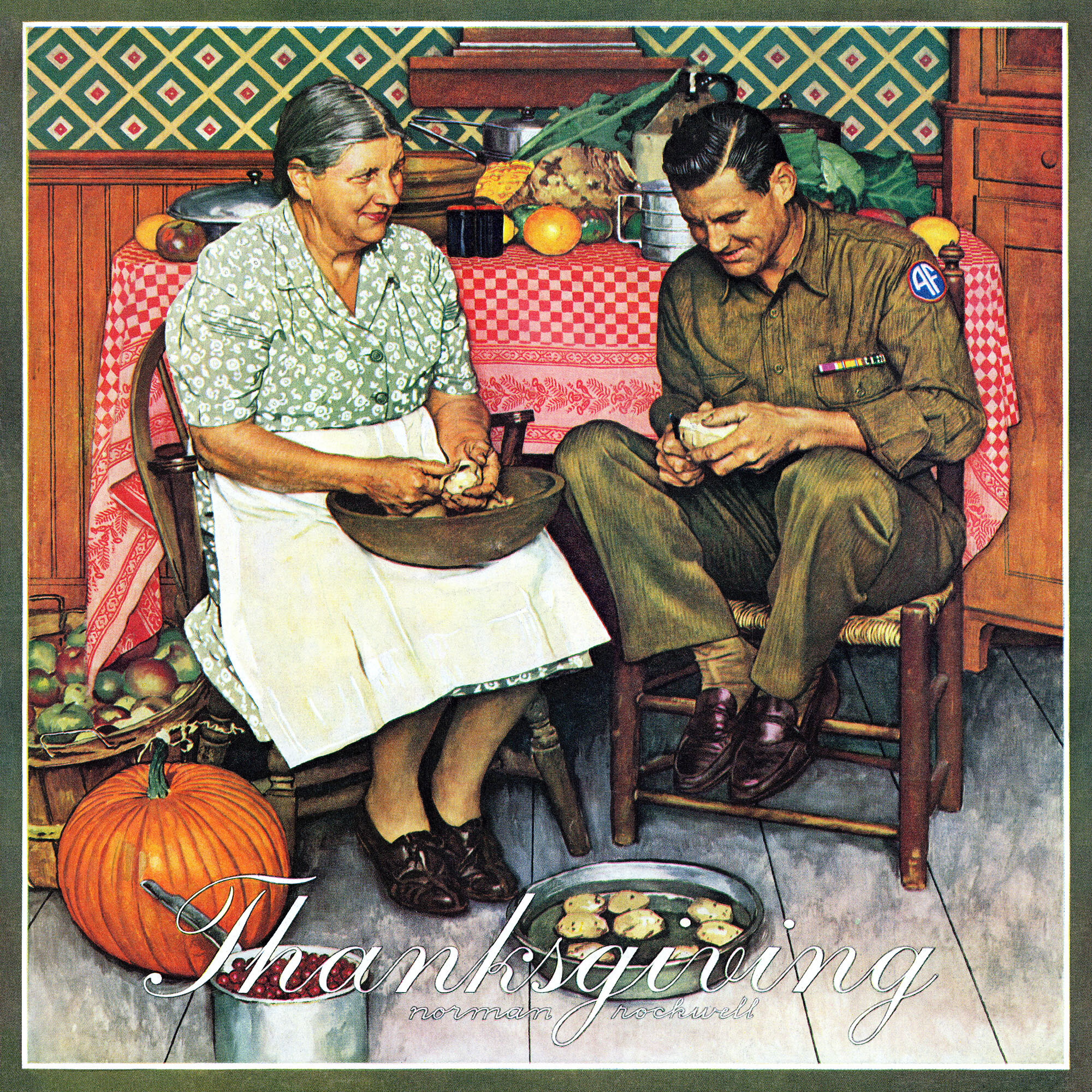 Norman Rockwell Thanksgiving Art