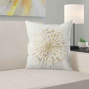 Golden Star Throw Pillow