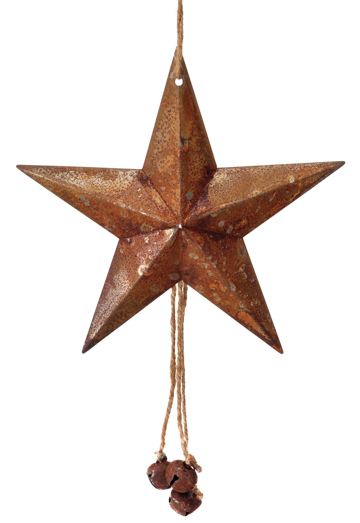 The Holiday Aisle Metal Star And Jingle Bell Holiday Shaped Ornament Reviews Wayfair
