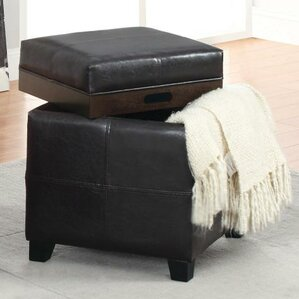 alastar storage cube with reversible tray - Storage Cube Ottoman
